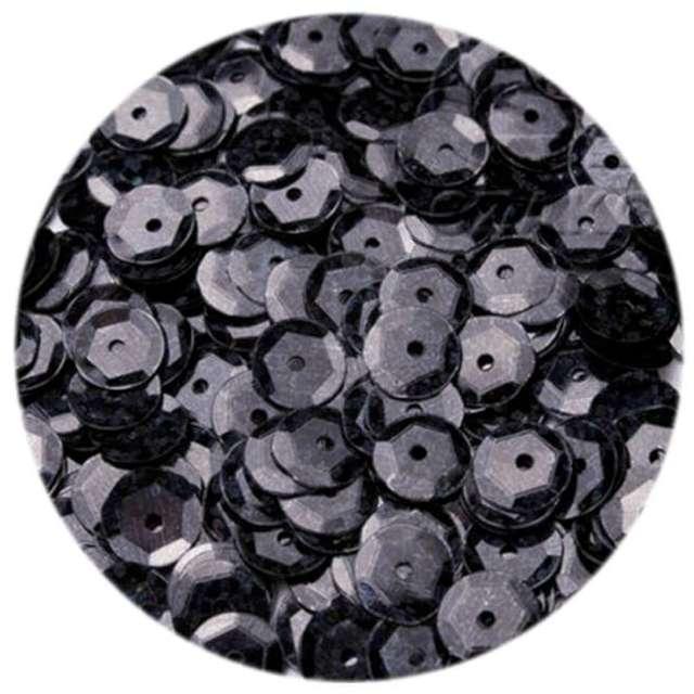 Cekiny Classic Holo czarne 8 mm 10 g Brewis
