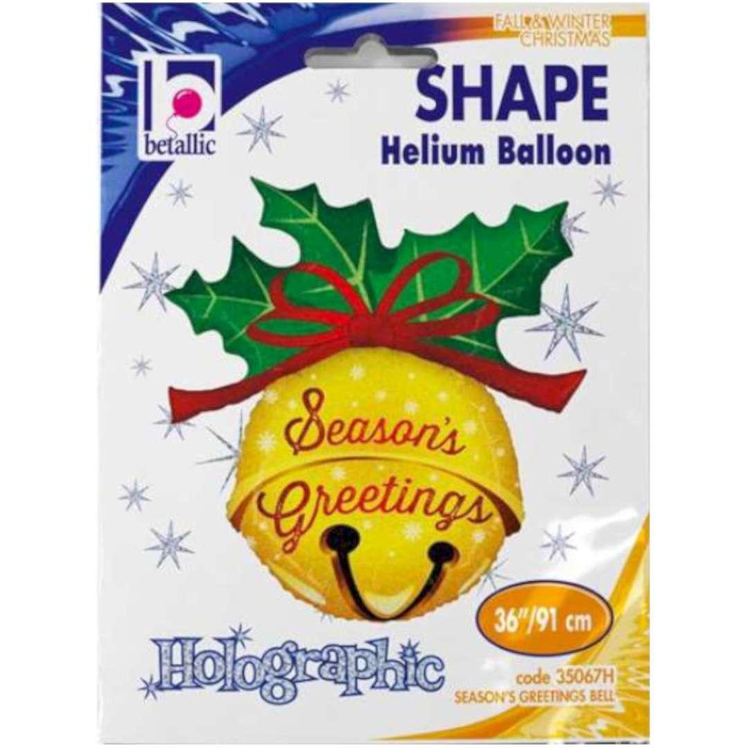 Balon foliowy Świąteczny dzwoneczek Betallic 36 SHP