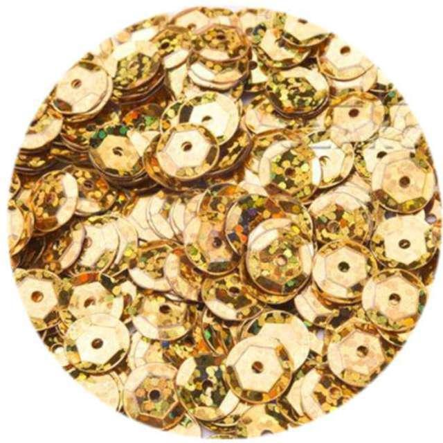 Cekiny Classic Holo złote 6 mm 10 g Brewis