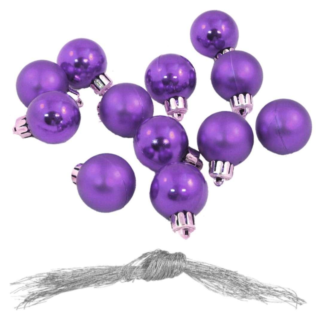 Bombki Nietłukące fioletowe Arpex 3 cm 12 szt