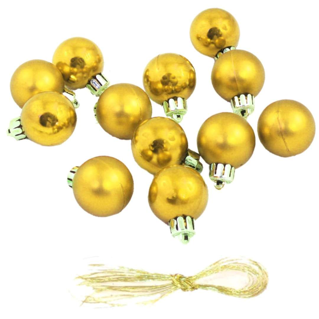 """Bombki """"Nietłukące"""", złote, Arpex, 3 cm, 12 szt"""