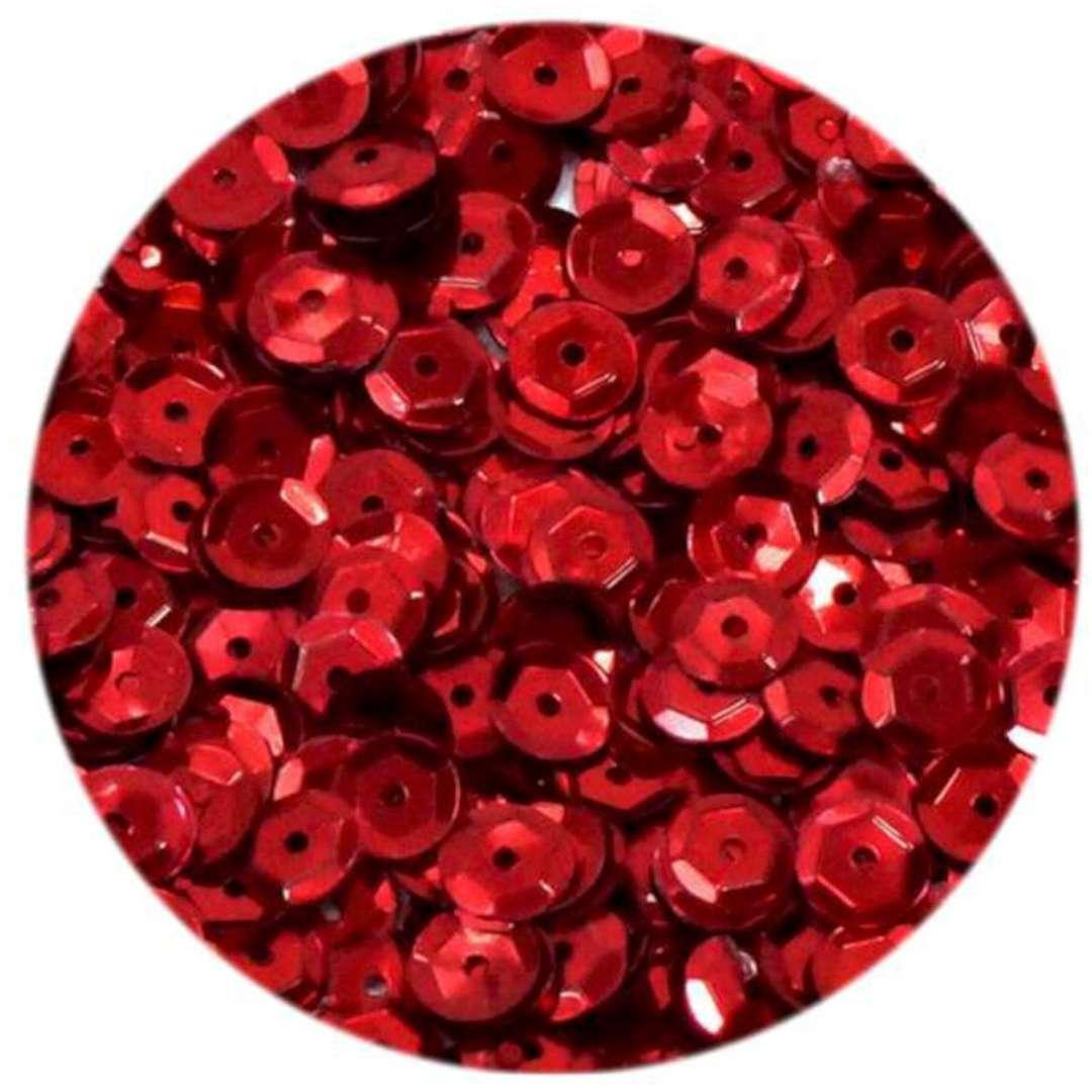_xx_Cekiny błyszczące 6mm czerwony