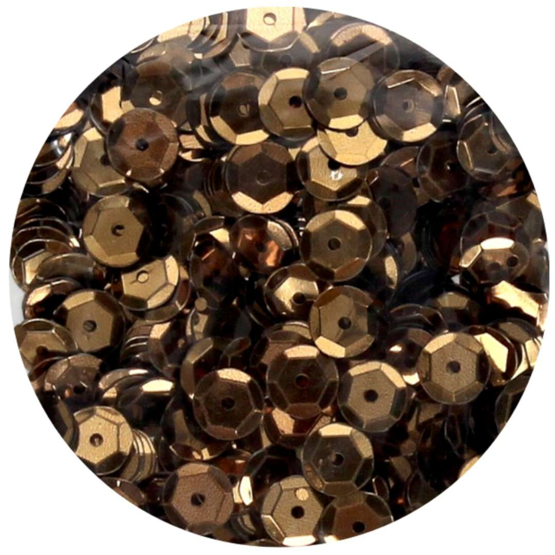 _xx_Cekiny błyszczące 6mm  brązowy