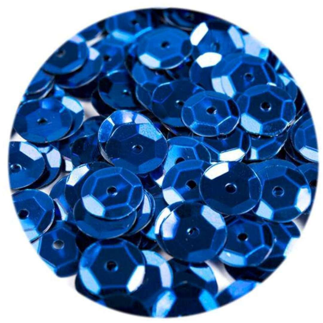 _xx_Cekiny błyszczące 6mm  niebieski