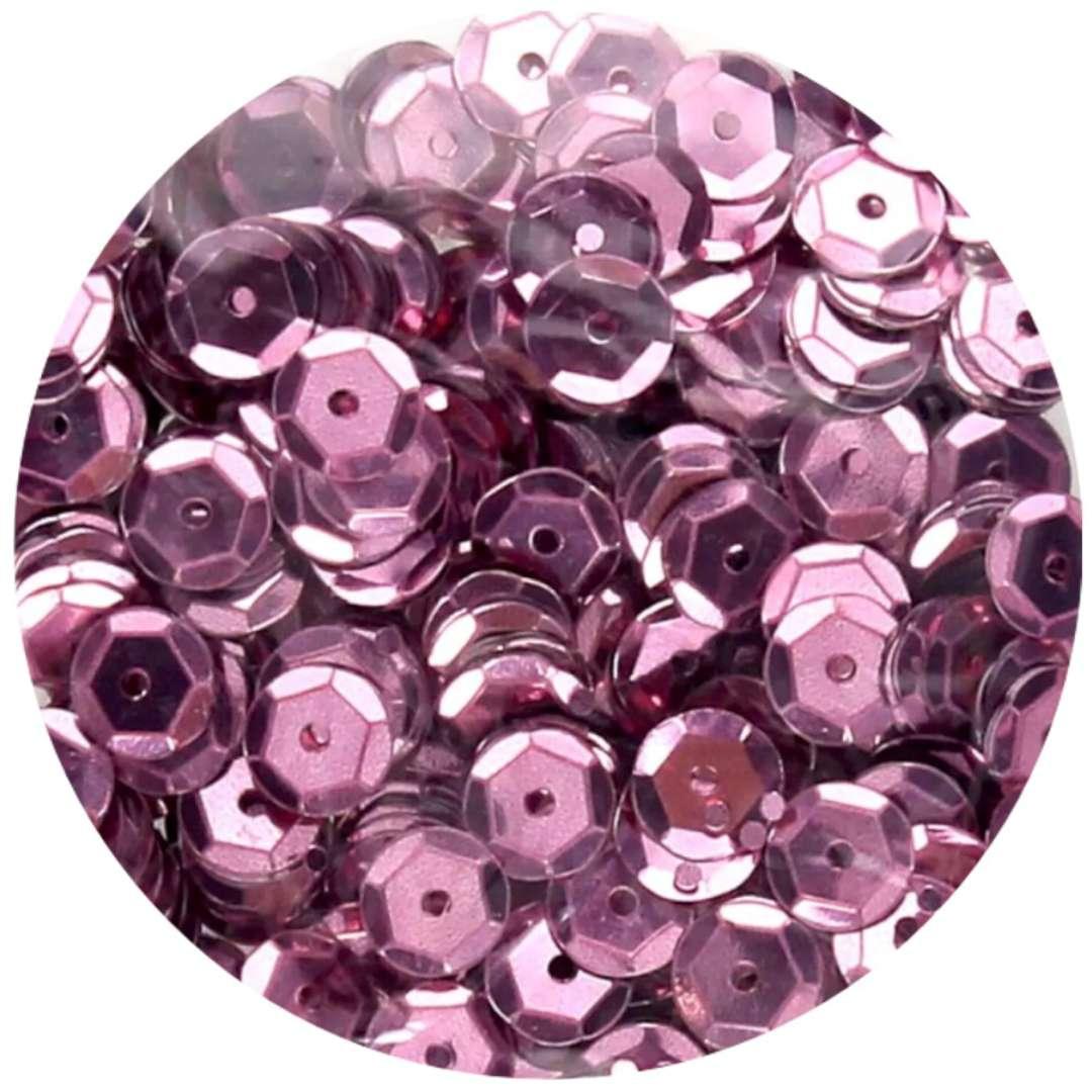_xx_Cekiny błyszczące 8mm  różowy
