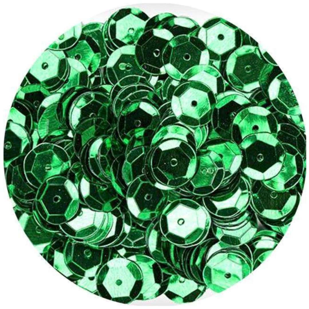 _xx_Cekiny błyszczące 8mm zielony