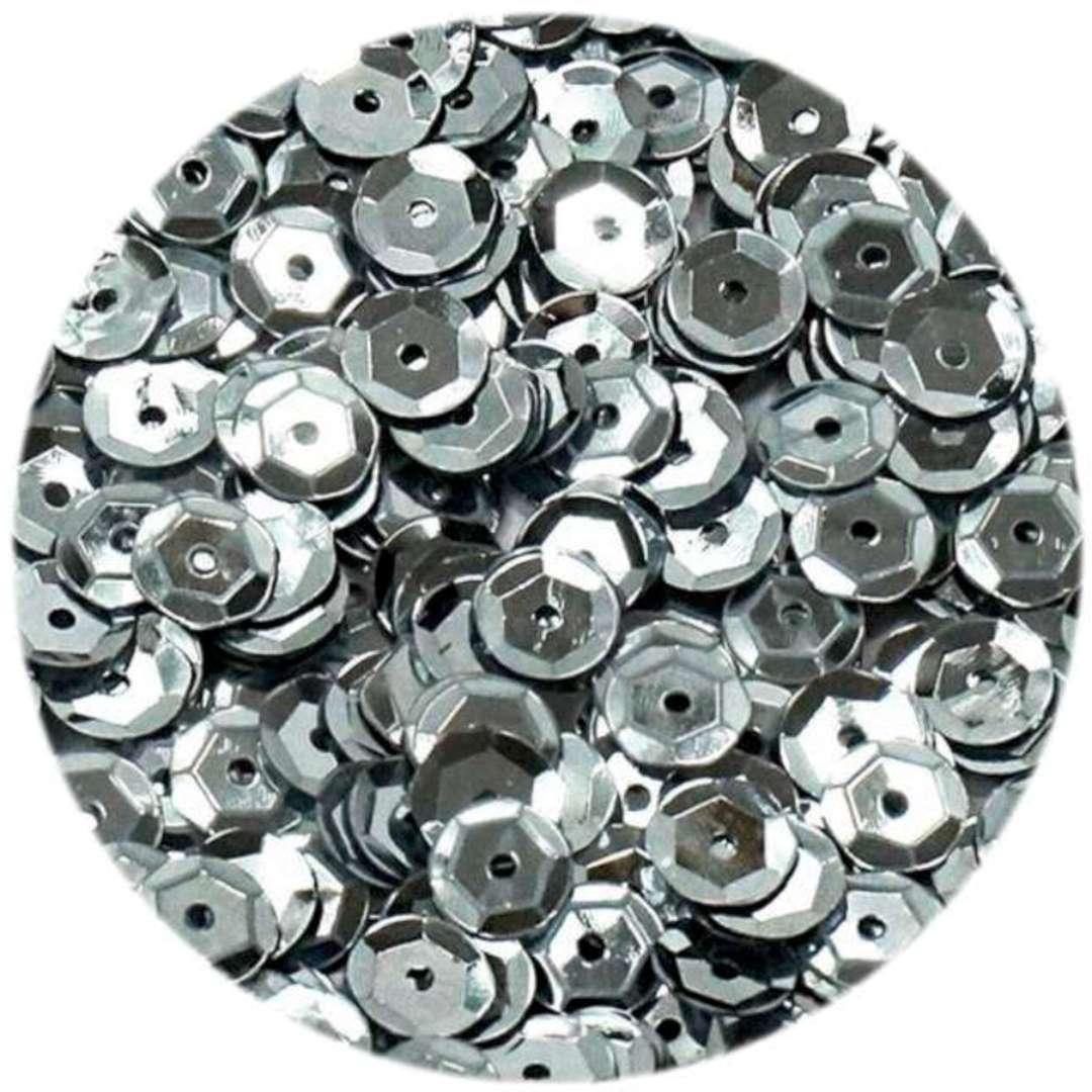 _xx_Cekiny błyszczące 6mm srebrny