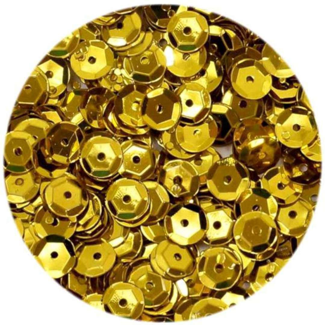 _xx_Cekiny błyszczące 6mm złoty