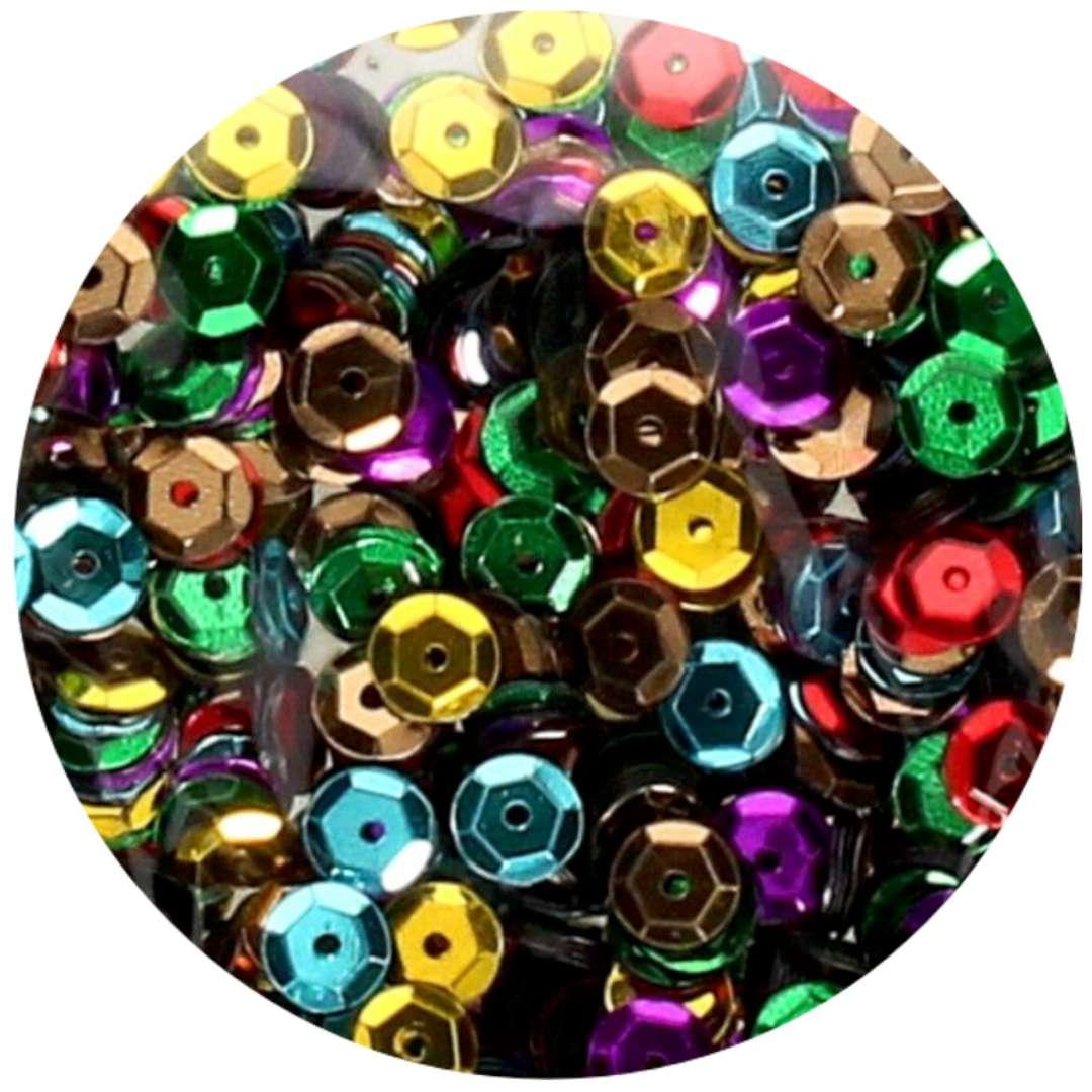 _xx_Cekiny błyszczące 6mm mix kolorów