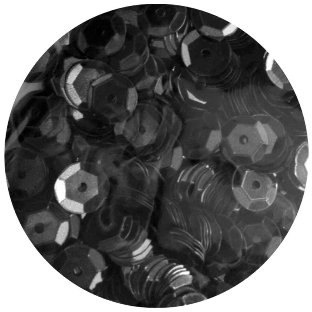 _xx_Cekiny błyszczące 8mm  czarny