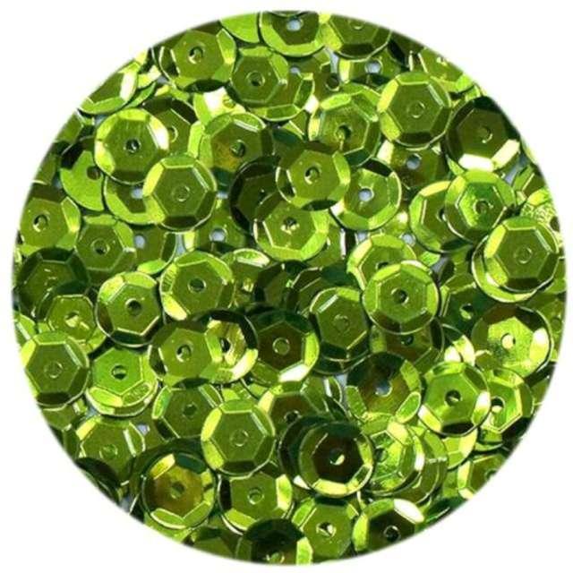 _xx_Cekiny błyszczące 8mm zielony jasny