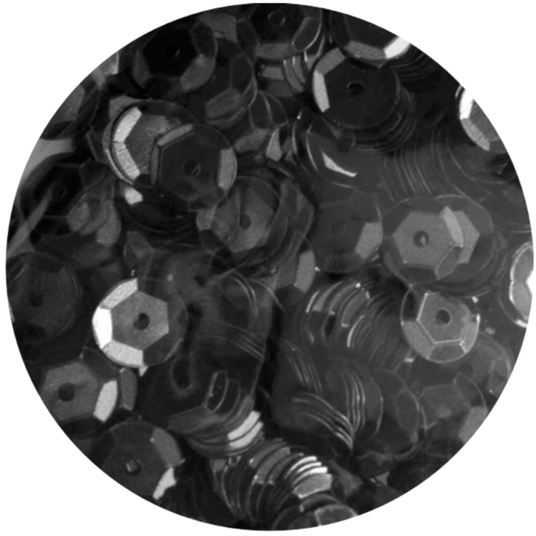 _xx_Cekiny błyszczące 6mm  czarny