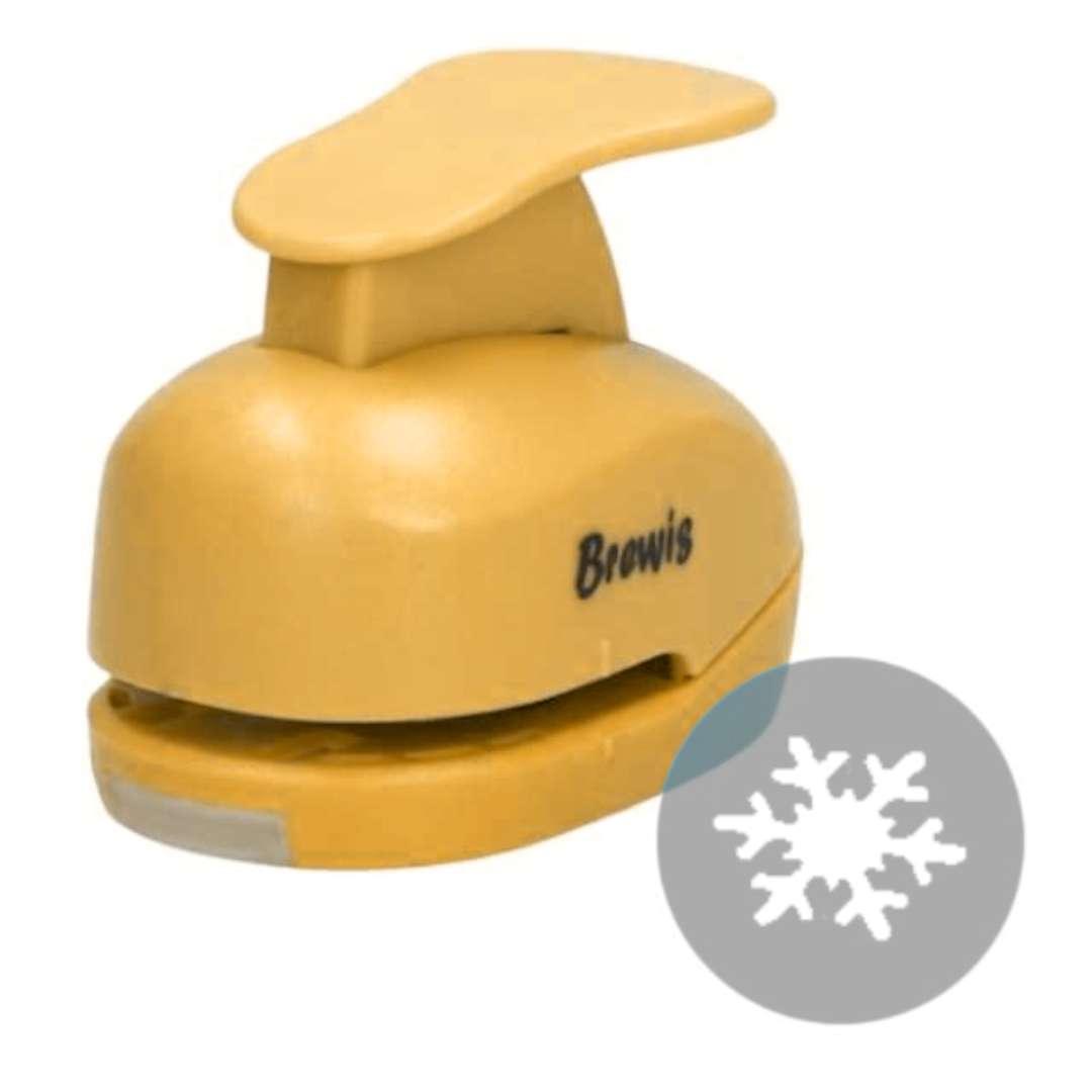 """Dziurkacz kreatywny """"Świąteczna Śnieżynka"""", żółty, Brewis, 2,5 cm"""