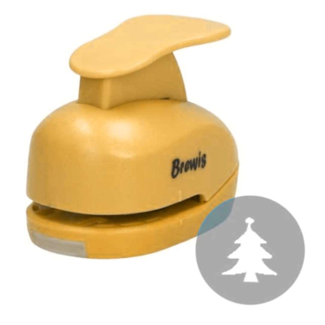"""Dziurkacz kreatywny """"Świąteczna Choinka"""", żółty, Brewis, 2,5 cm"""