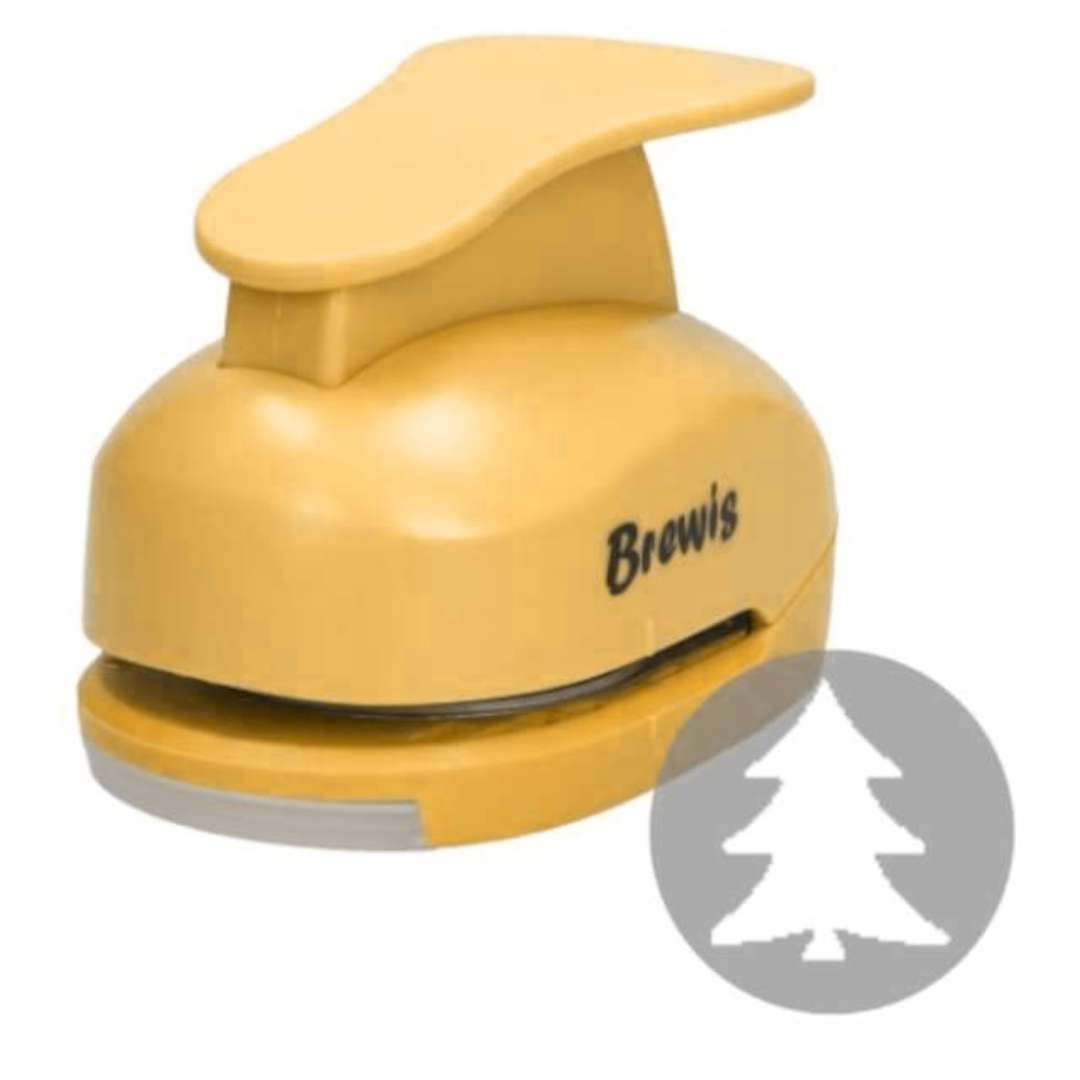"""Dziurkacz kreatywny """"Świąteczna Choinka"""", żółty, Brewis, 5 cm"""