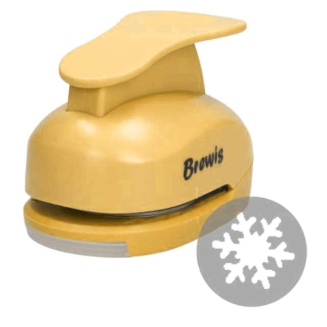 """Dziurkacz kreatywny """"Świąteczna Śnieżynka"""", żółty, Brewis, 5 cm"""