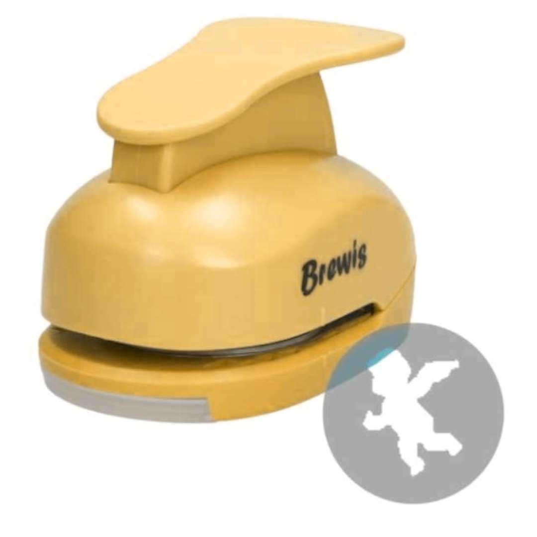 """Dziurkacz kreatywny """"Świąteczny Aniołek"""", żółty, Brewis, 5 cm"""