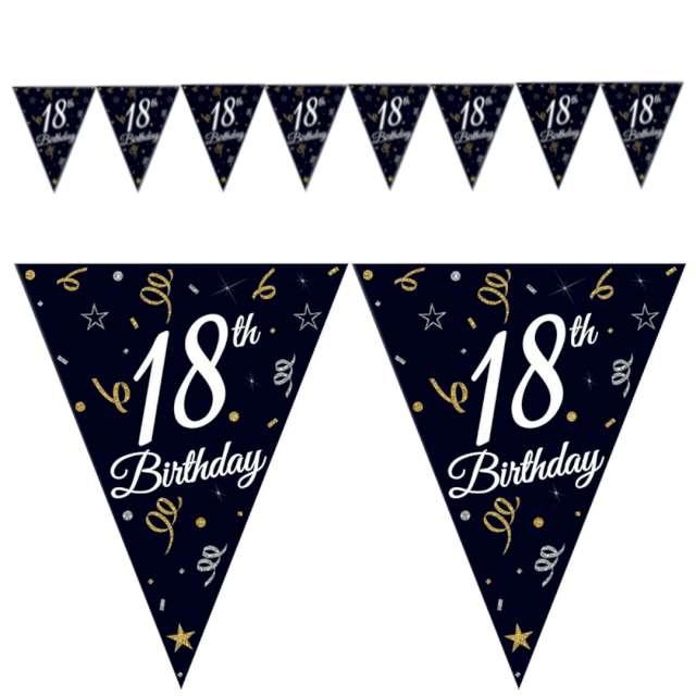 Baner flagi 18 urodziny czarny Godan 270 cm