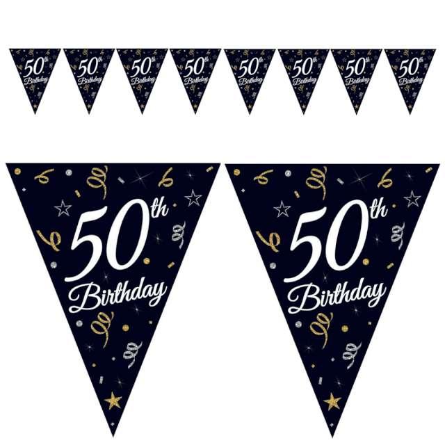 "Baner flagi ""50 urodziny"", czarny, Godan, 270 cm"