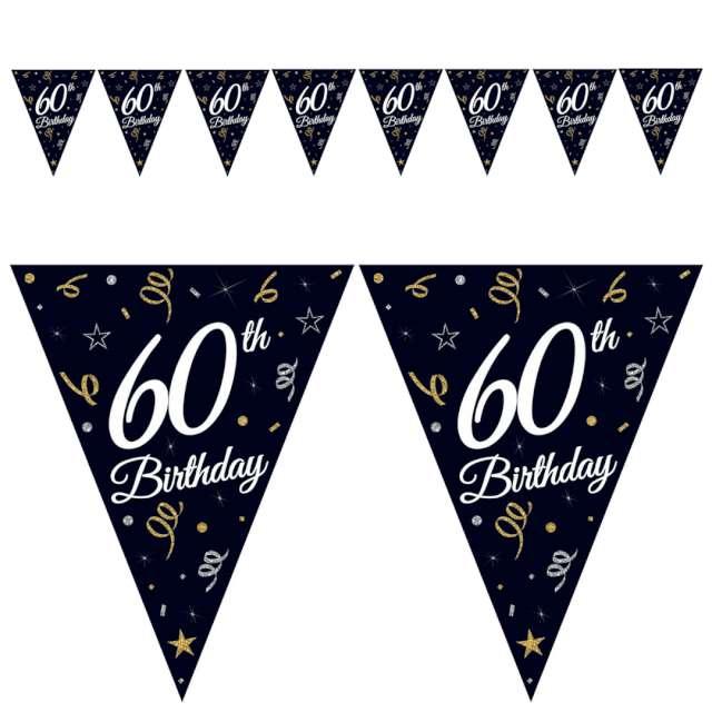 "Baner flagi ""60 urodziny"", czarny, Godan, 270 cm"