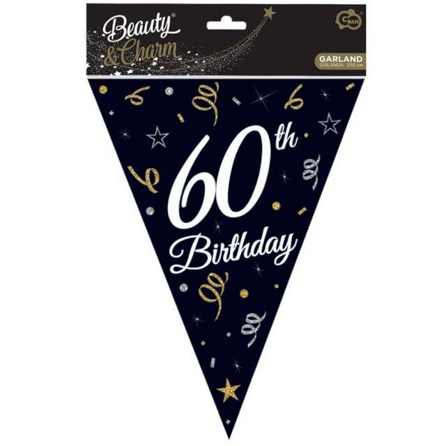 Baner flagi 60 urodziny czarny Godan 270 cm