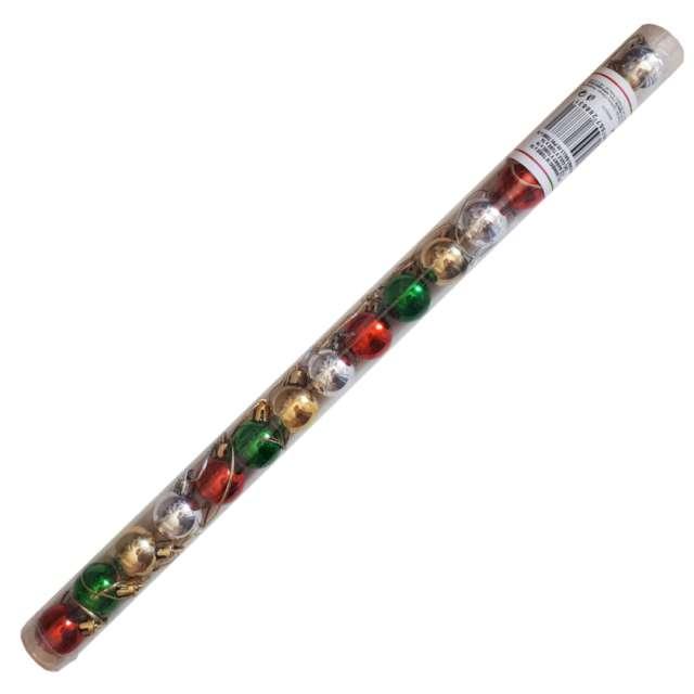 """Bombki """"Zestaw w tubie"""", mix kolor, Arpex, 2,5 cm, 16 szt"""