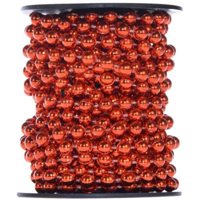 """Łańcuch choinkowy """"Korale Long"""", czerwone, Arpex, 6 mm, 6 m"""