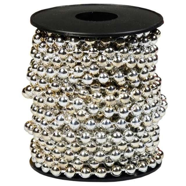 "Łańcuch choinkowy ""Korale Long"", srebrne, Arpex, 6 mm, 6 m"