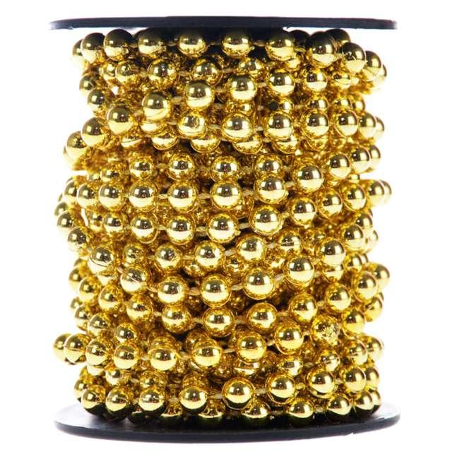 """Łańcuch choinkowy """"Korale Long"""", złote, Arpex, 6 mm, 6 m"""