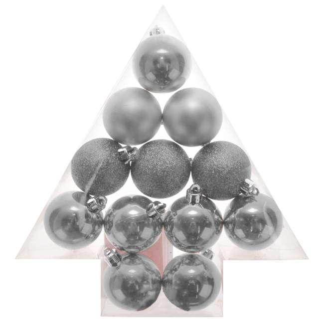 "Bombki ""Zestaw Mix"", srebrne, Arpex, 3,5 cm, 12 szt"
