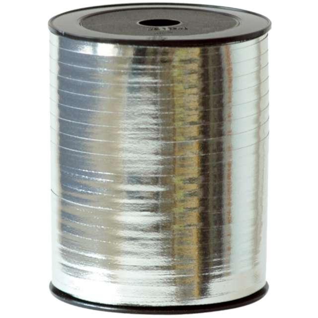 _xx_Plain metallic bolduc ribbon Silver (Polypropylene) 7 mm