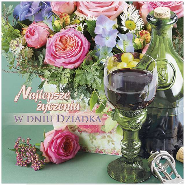 _xx_laurka b6 życzenia w dniu dziadka wino 44820