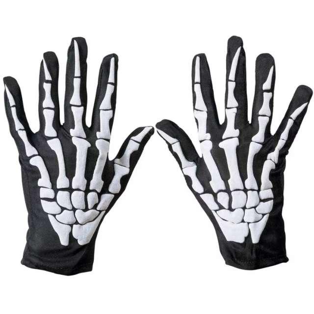 Rękawiczki Kościotrup - uniwersalne czarne Party Tino