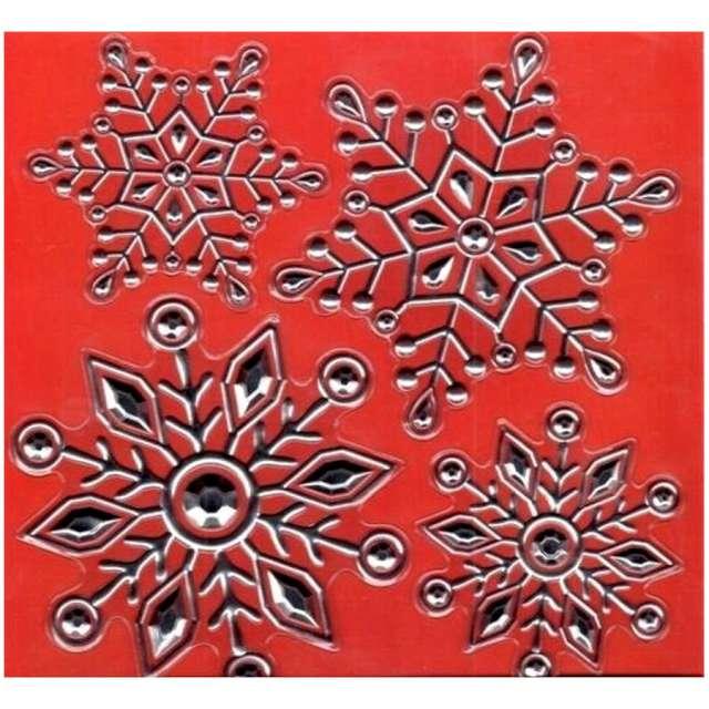 Dekoracja na okno Samoprzylepne śnieżynki srebrne Arpex
