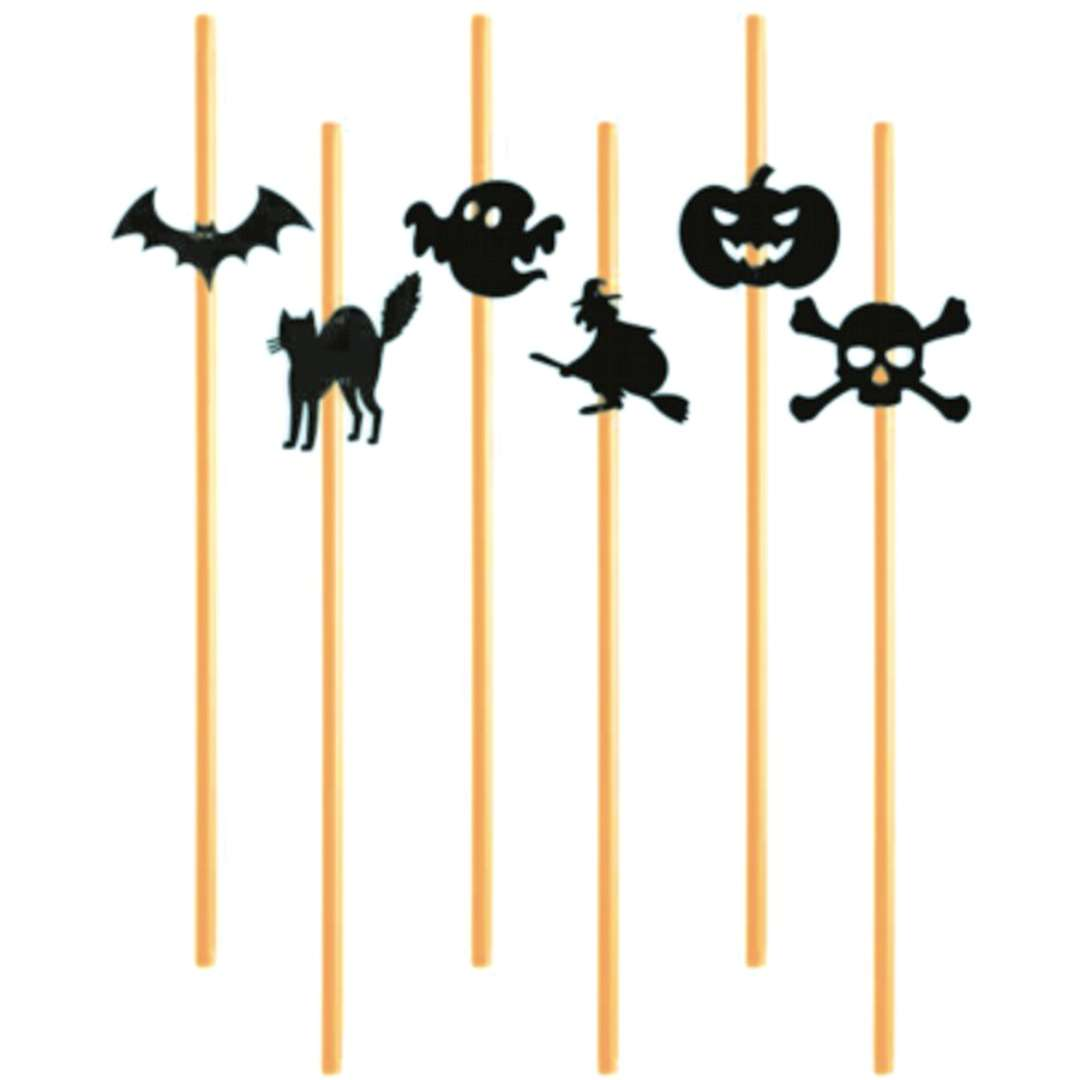 """Słomki """"Halloween mix"""", 24 cm, 6 szt"""