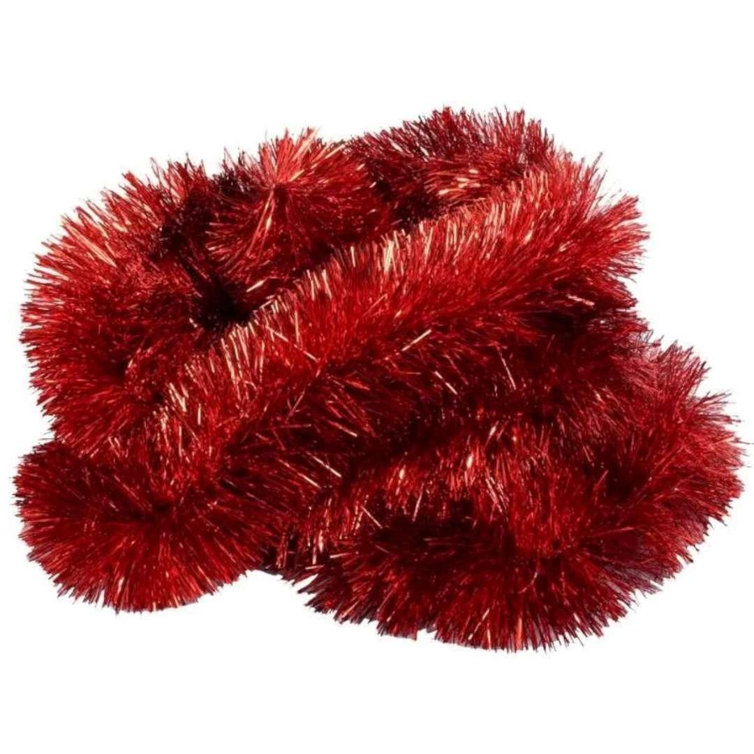 Łańcuch Choinkowy Classic Big czerwony Arpex 8 cm 2 m