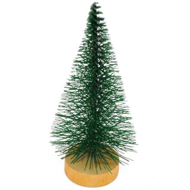 Dekoracja Choinka na pniu zielona Aliga 15cm