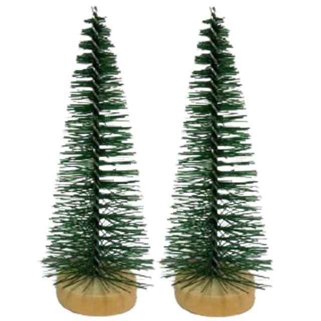 Dekoracja Choinki na pniu zielona Aliga 8cm 2szt