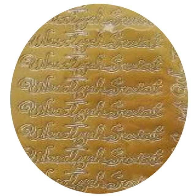 Naklejki Wesołych Świąt - życzenia złote Aliga 10x23cm