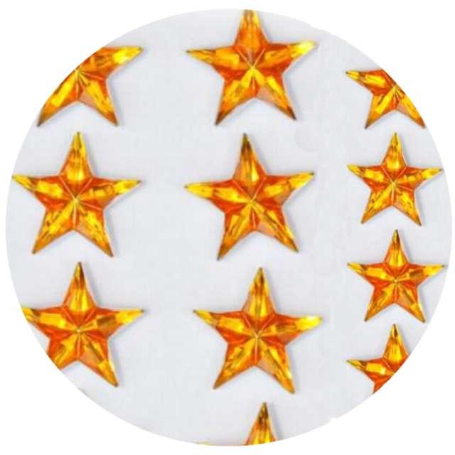 Naklejki Gwiazdy 3D złote Aliga 8szt