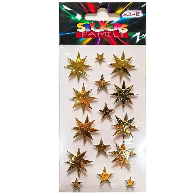 Naklejki Gwiazdki 3D złote Aliga 7x125 cm