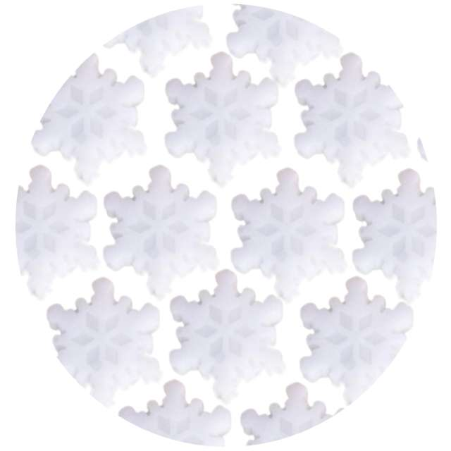 """Naklejki """"Śnieżynki żelowe"""", białe, Aliga, 19x19 cm"""