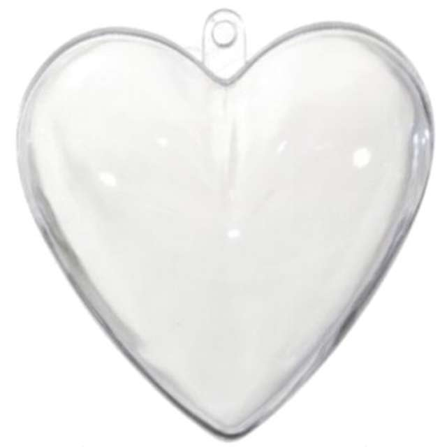 Bombki do dekorowania Serca akrylowe Aliga 16 cm 5 szt