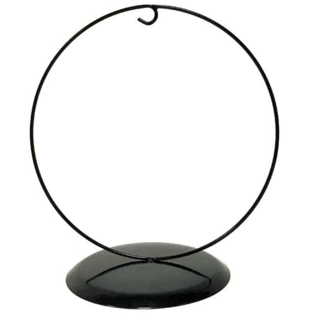 Stojak na bombkę Classic - okrągły czarny Aliga 23 cm