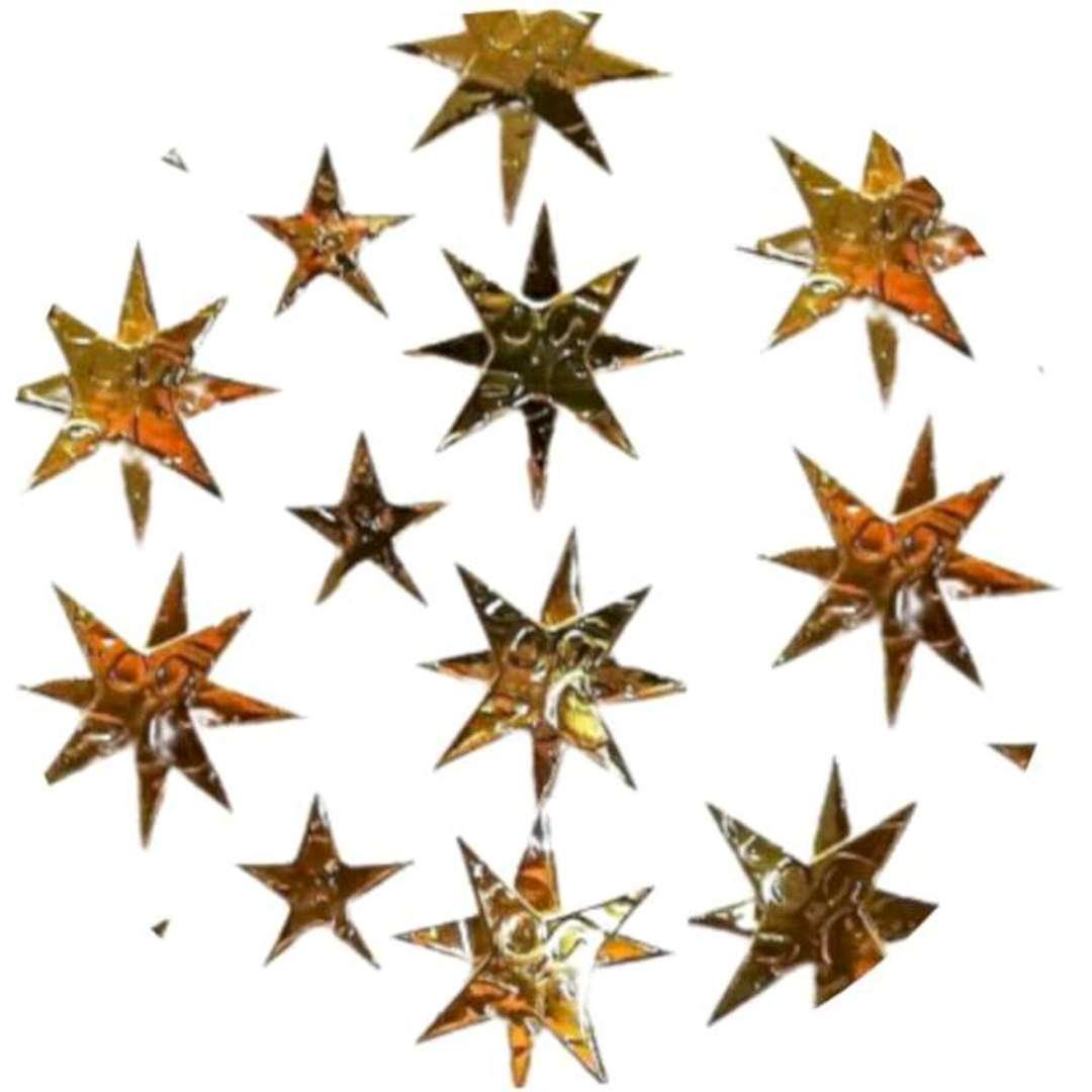 Naklejki Gwiazdki 3D złote Aliga 7x125cm