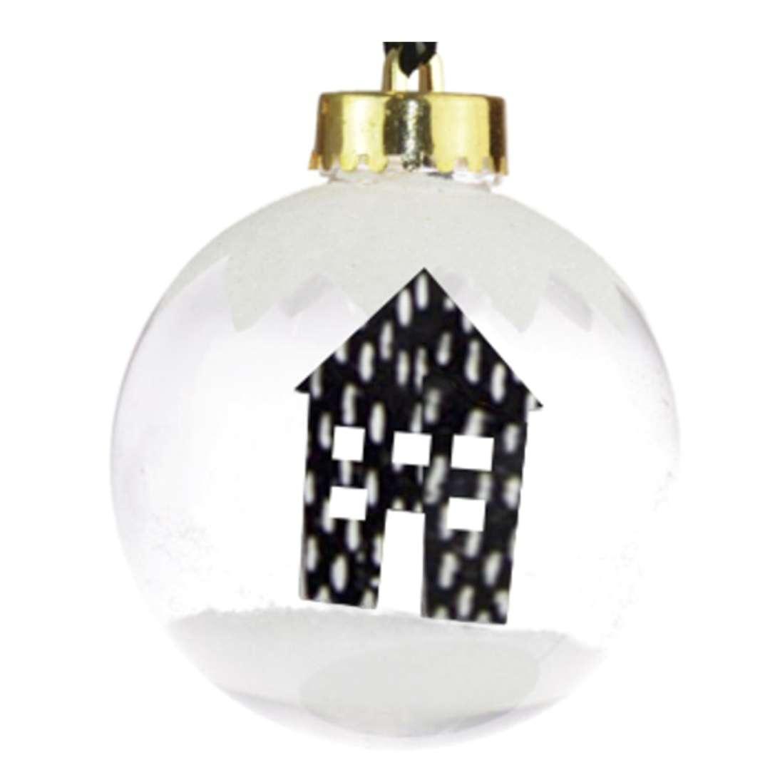 "Bombka ""Śnieżny domek, transparentna, 7,5cm, Arpex"