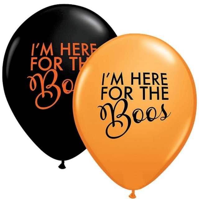 _xx_Balon QL 11 z nadr. Simply Here For The Boss Orange&Black 25 szt.