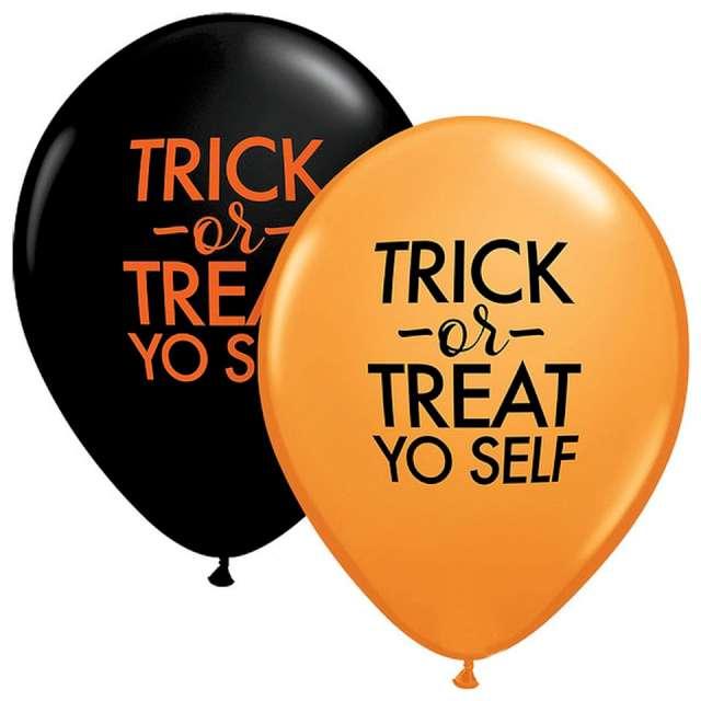 _xx_Balon QL 11 z nadr. Simply Trick-Or-Treat Orange&Black 25 szt.