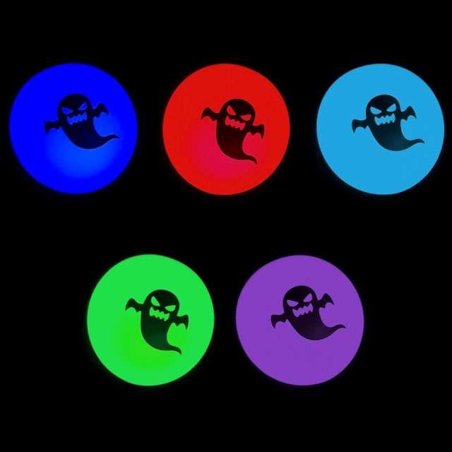 _xx_Maracaloon Halloween party balon biały dioda LED tęczowa