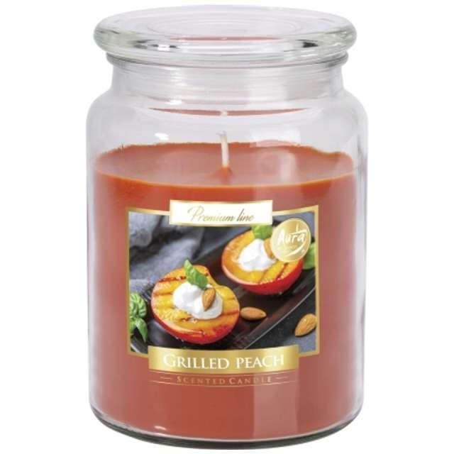 _xx_Duża świeca Grilowana brzoskwinia w szkle